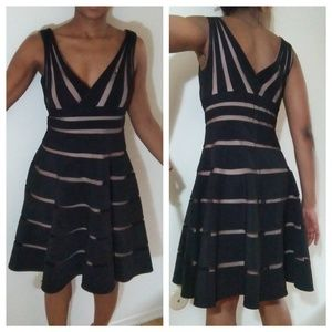 Black and Tan sleeveless dress